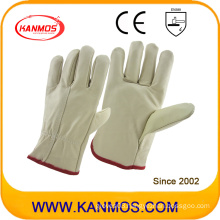Most Popular Light Cowhide Furniture Driver Leather Work Industrial Safety Gloves (31016)