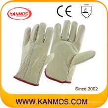 Die beliebtesten leichten Rindsleder Möbel Fahrer Leder Arbeit Arbeitsschutz Handschuhe (31016)