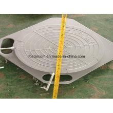 Plaque d'angle de positionnement à quatre roues