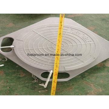 Placa de canto de posicionamento de quatro rodas