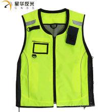 CNSS conception personnalisée fluorecent jaune assorti couleur haute visibilité réfléchissante sécurité gilet