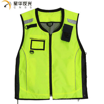CNSS customized design fluorecent yellow assorted color high visibility reflective security vest