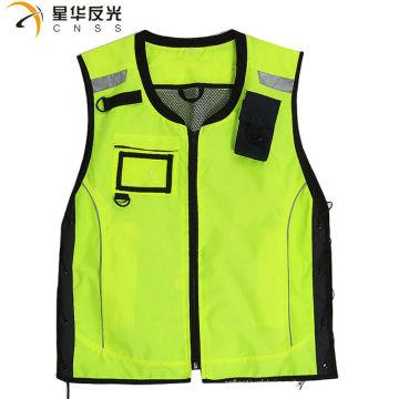 CNSS индивидуальный дизайн флуоресцентный желтый цвет ассорти с высокой отражающей отражательной защитой жилет