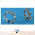 Modeschmuck für Dame Beatiful Crown Design Ring 925 Sterling Silber CZ Ring R10496