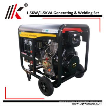 Génération refroidie par air et Genset de soudure des générateurs diesel de 1.5kw