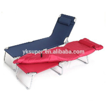 outdoor leisure metal single folding bed
