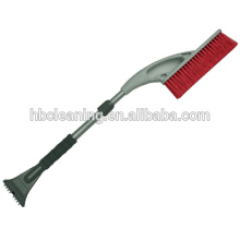 telescopic handle snow sweeping brush with ice scraper