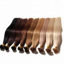 100% Brazilian Human Virgin Remy Hair Extension U-Tip Keratin Nail Hair Silky Straight