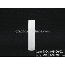Puro plástico redondo lápiz labial tubo contenedor AG-DY01, taza tamaño 11.8/12.1/12.7mm,Custom color
