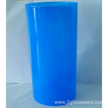 Cylinder Color Storage Jar with bamboo Lid