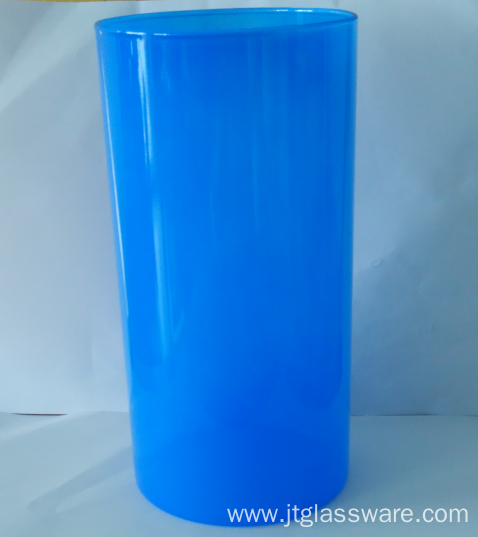 Color Glass Cylinder Storage Container