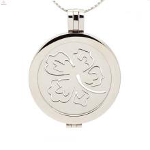 Encantadora pequena flor flutuante medalhão moeda, fabricante de medalhão profissional
