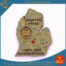 Monedas de los premios militares Spartan Pride 2D personalizados (LN-075)