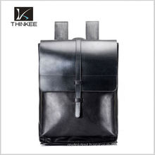 Elegance vintage geuine leather school bags backpack
