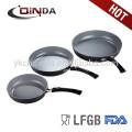 QINDA forjado de aluminio sartén con revestimiento de cerámica gris QD-FM001
