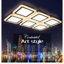 Plafonnier élégant carré de LED allumant la lumière en cristal pour le logement décoratif