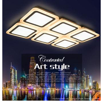 Elegante quadratische LED Deckenleuchte Kristall Licht für die Unterbringung von dekorativen