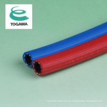 Mangueira de solda de borracha dupla reforçada flexível. Fabricado por Togawa Rubber Co., Ltd. Fabricado no Japão (mangueira gêmea)