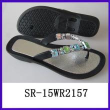 Shine diamond PVC-Einspritzung China Sandale Schuh China Frauen Schuhe China Schuh