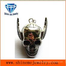Moda de acero inoxidable joyas collares cráneo colgante