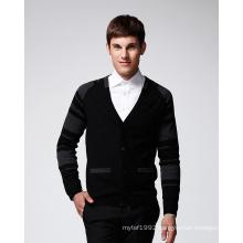 ODM Long Sleeve Pure Colour Man Sweater Cardigan