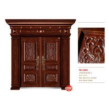 China Puerta de entrada del proveedor de puerta de acero Puerta de puerta de metal del hierro (FD-1205)