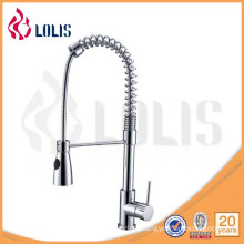pull out single handle brass spring kitchen faucet (Y-1007)
