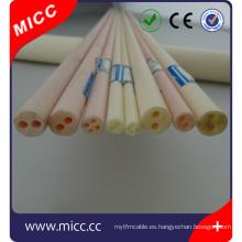 1000 mm de largo 4 agujeros OD5.5mm dia Al2O3 99.5% aisladores de alúmina alta