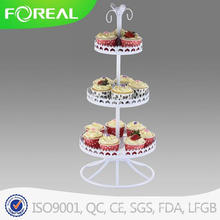 White Powder Coating Cupcake Stand