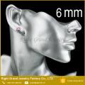 Pendientes de Shamballa de acero inoxidable 316L de acero inoxidable de 31 mm, pernos prisioneros del oído del Zircon cúbico