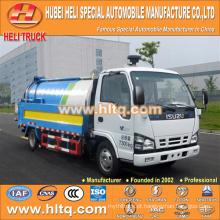 Japão tecnologia 600P cab 4x2 vácuo vácuo e pressão caminhão de lavagem 120HP