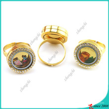 Gold Memory Locket Ring für Teenage Schmuck (LR16041206)