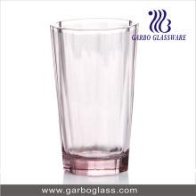 10oz vaso de vidrio de color rosa beber