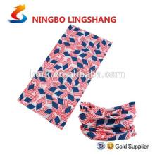 Cuello tubo multifuncional al aire libre venda más caliente cuello bandana transparente