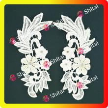 Fashion chemical embroidery pairs floewrs