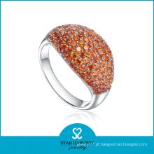 Último estilo de prata CZ jóias Cocktail anel (SH-R0538)