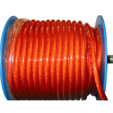 Car Power Cable with Foil, Made of Transparent Various Color PVC, OEM Orders are Welcome