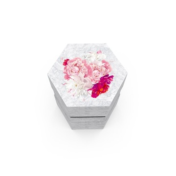 Hight Quality Hexagon Paper Rigid Gift Box