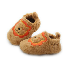 Atacado Quanlity Lion Pattern Plush Baby Shoes