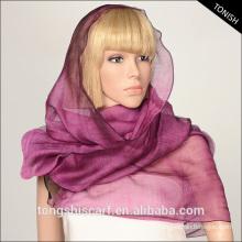 2015 женщин мода шарф 70%шелк 30% шерсть длинный шарф и шаль