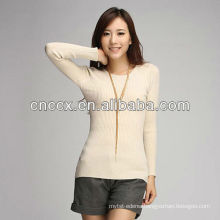 PK17ST253 ladies crew neck lastest new style sweater