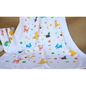 100% Cotton Baby Muslin Swaddling, Baby Bath Towel with 120X140cm