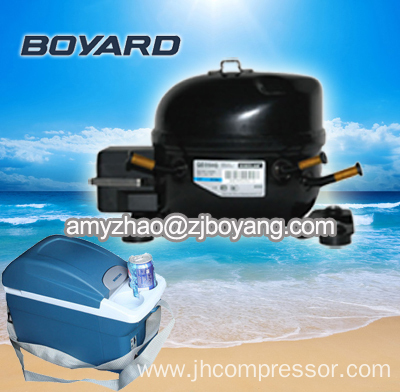 Cooling units car 12v with battery power r134a dc 12v 24v for Air compressor for pool closing