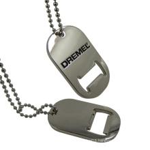 Metal Dog Tag Shape Silver Bottle Opener