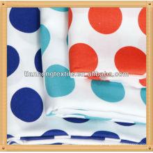 100% cotton printed twill sateen fabric