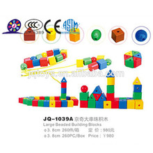 2016 Plastic threading beads toy for kids