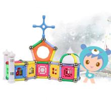 Magnética bloques educativos juguetes caja de almacenaje magnética pega bloques magnéticos de Navidad niños