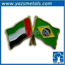 Personalize o pino da bandeira do Brasil com chapeamento de ouro e esmalte macio