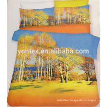 100% Cotton 3D Reactive Printed Chinese Scenery Design Bedding Set