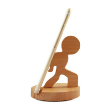 FQ marca al por mayor logo personalizado de madera perezoso escritorio teléfono móvil titular